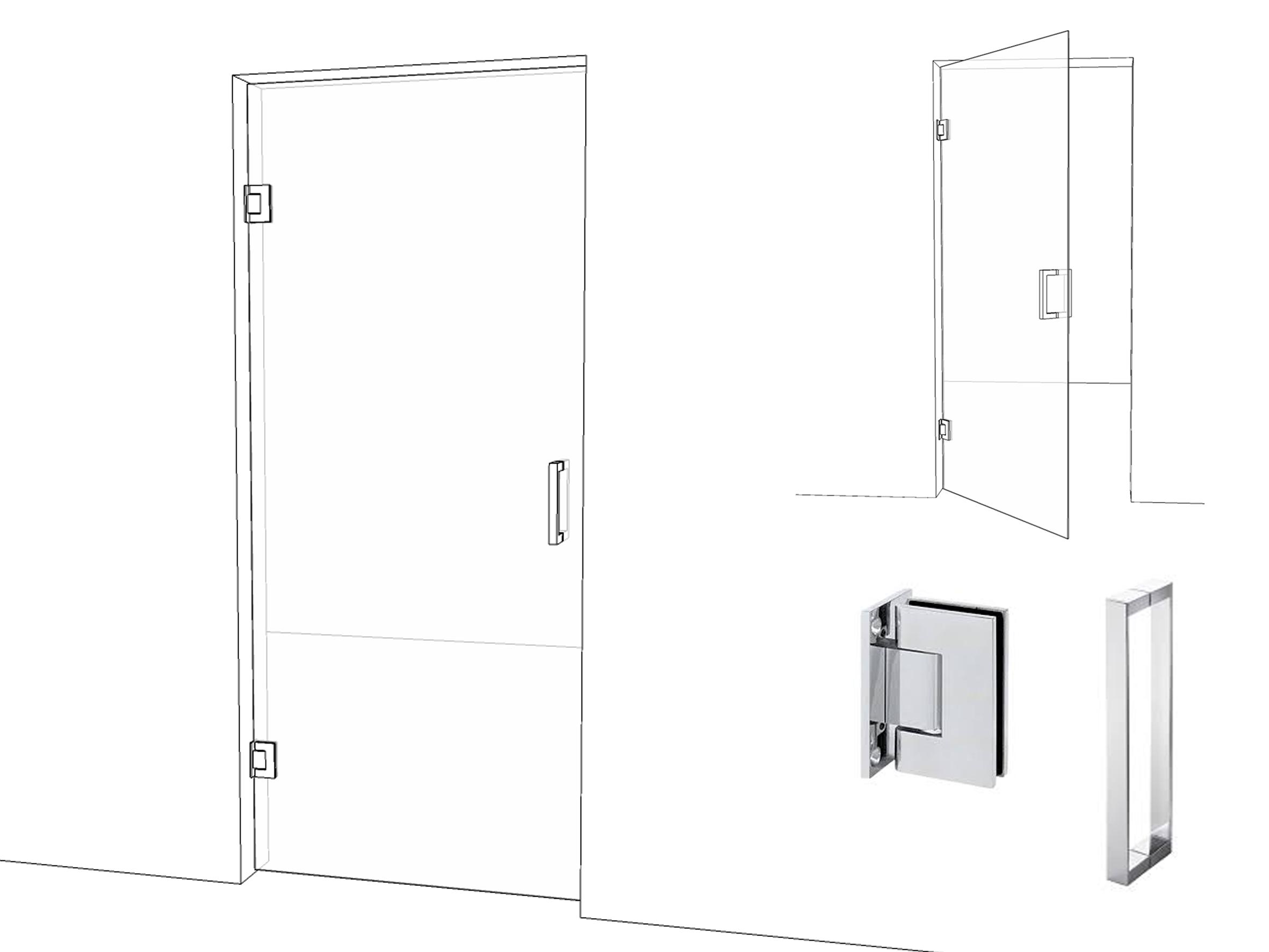 Интериорна врата с пружинни панти