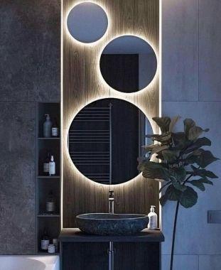 Кръгло огледало с LED подсветка