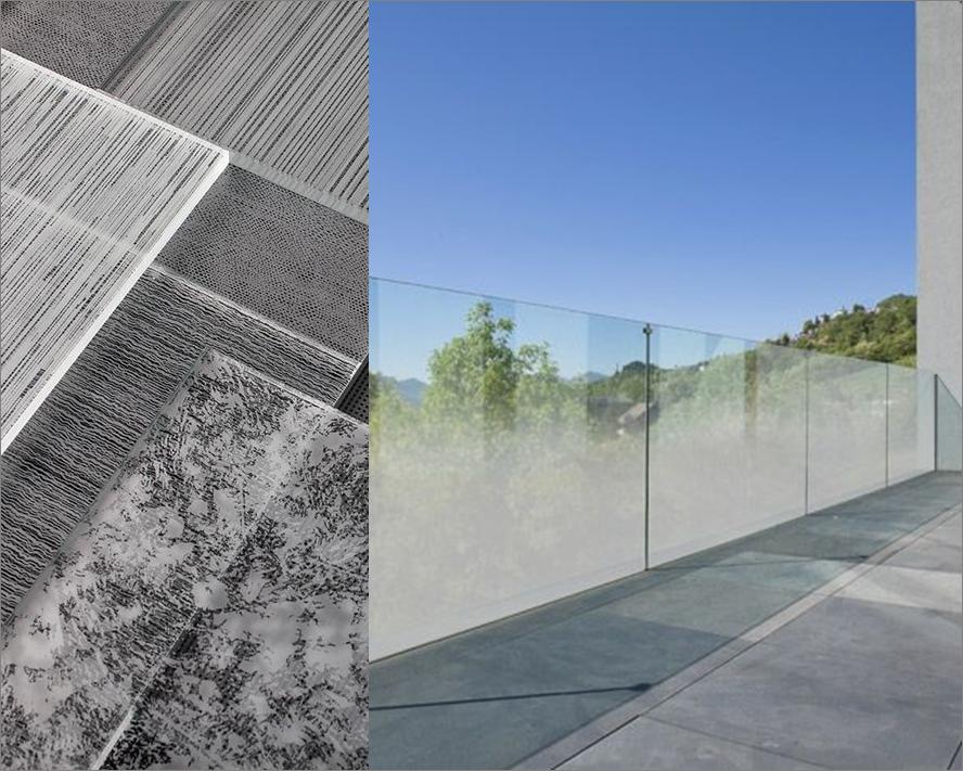 Интериорен парапет от стъкло с принт