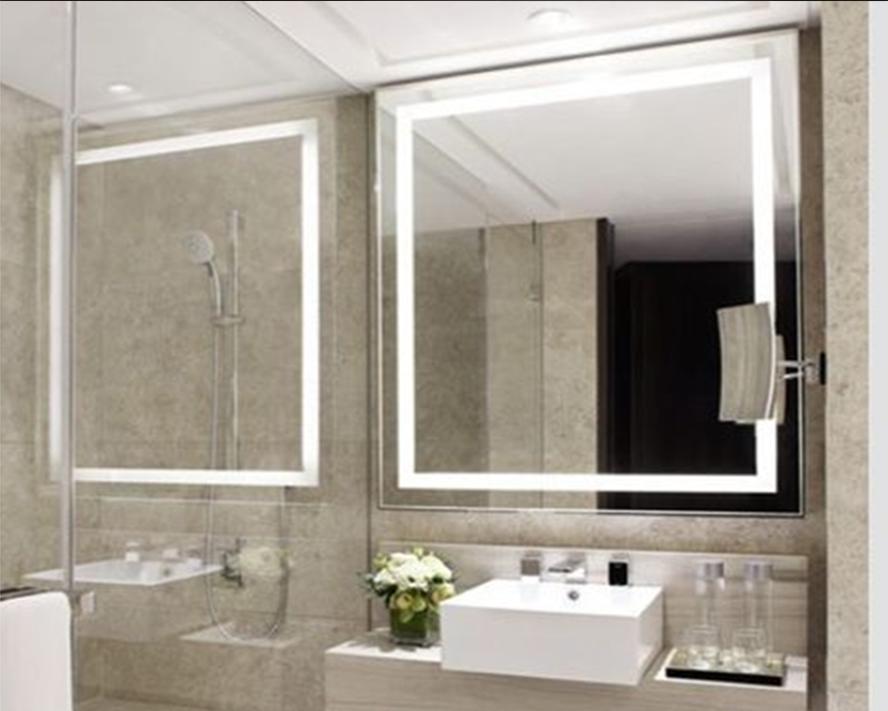LED огледало с вградено осветление