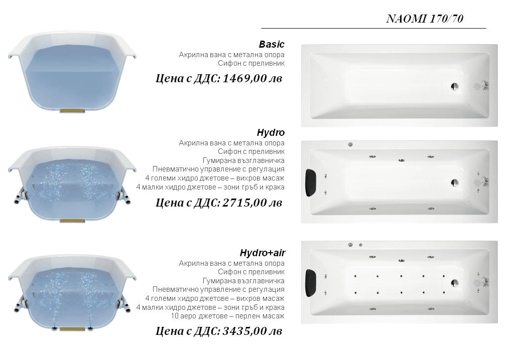 Naomi 160×70, 170×70