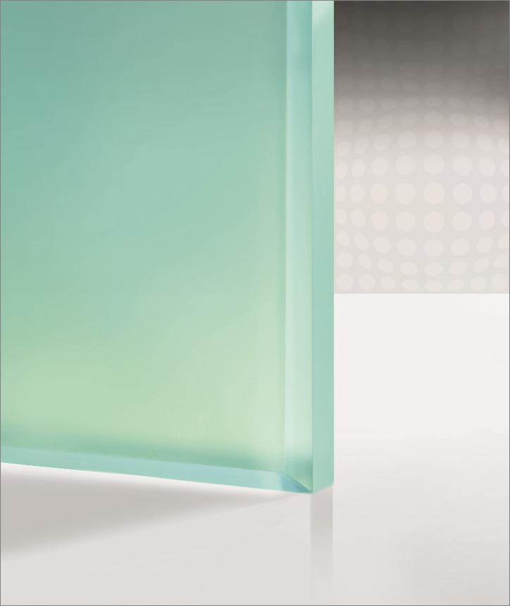 Интериорен парапет от матирано стъкло